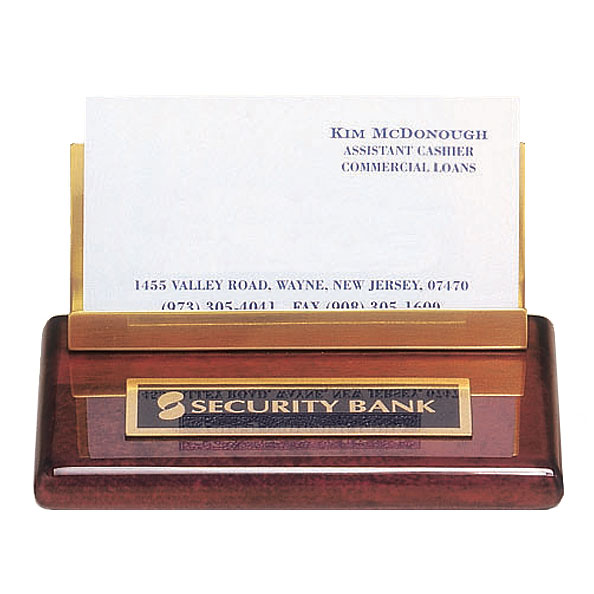 Rosewood Business Card Holder/Nameplate