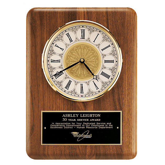 American Walnut Wall Clock - Ivory Dial